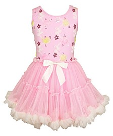 Girls Colorful Ruffle Dress