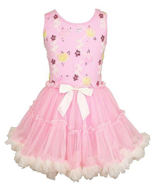 aa90289de2a21 Popatu Girls Colorful Ruffle Dress & Reviews - Kids - Macy's