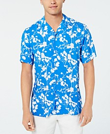 INC Men's Twig Leaf Camp Collar Shirt, Created for Macy's