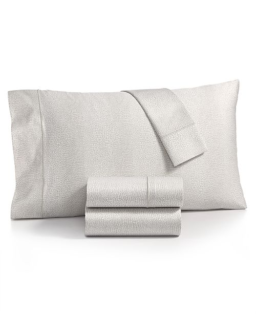 Charter Club Sleep Luxe Cotton 800-Thread Count 4-Pc. Printed California King Sheet Set, Created for Macy's