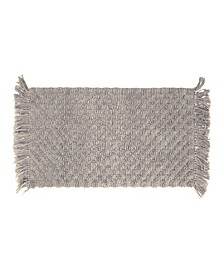 Arta Stonewash Beaded Cotton Bath Rug Collection