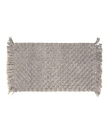 French Connection Arta Stonewash Beaded Cotton Bath Rug Collection