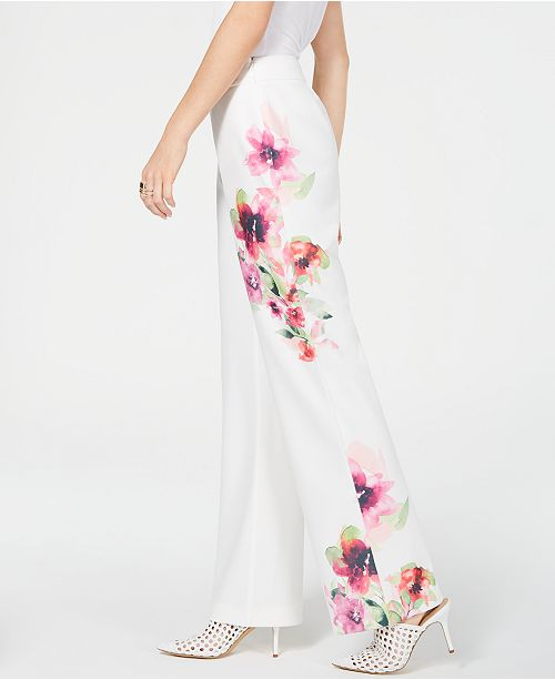 INC International Concepts I.N.C. Printed Wide-Leg Pants, Created for Macy's