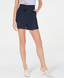 I.N.C. Paper Bag Shorts, Created for Macy's