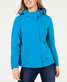 Charter Club Petite Hooded Swing Jacket, Created for Macy's