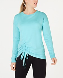Ideology Asymmetrical Ruched Top, Created for Macy's