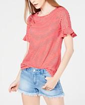 fecf6bc3f MICHAEL Michael Kors Striped T-Shirt, Regular & Petite Sizes