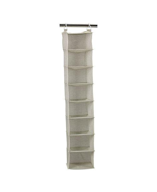 Household Essentials 8-Shelf Hanging Organizer, Tea fog