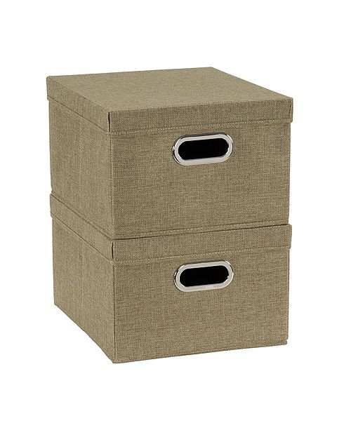 Household Essentials 2-Pc. Moss Storage Box Set