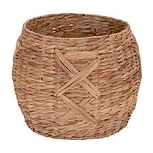 X-Weave Round Wicker Floor Basket