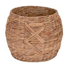 Household Essentials X-Weave Round Wicker Floor Basket