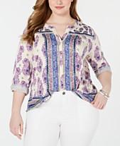 e76af11df9eff2 Plus Size Tops - Womens Plus Size Blouses   Shirts - Macy s