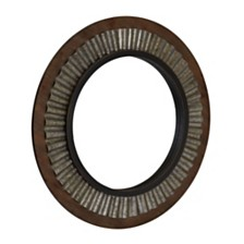 Household Essentials Wood Framed Sunburst Metal Mirror
