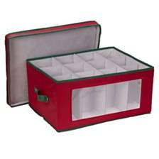 Household Essentials Holiday Stemware Balloon Wine Glass Storage Box