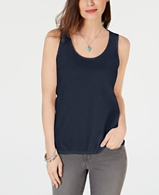 Style & Co Scrunch-Front Tank Top, Created for Macy's