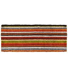 "Natural Coir Stripe 18"" x 46"" Coir Doormat"