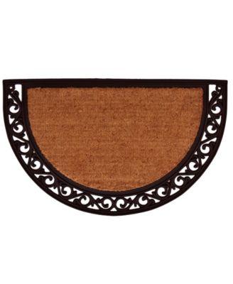 Ornate Scroll 2' x 3' Coir/Rubber Doormat