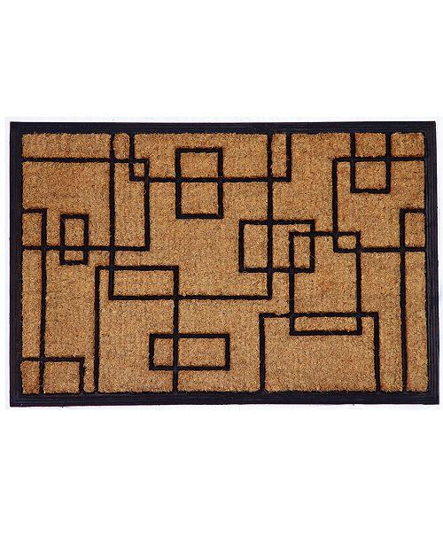 "Home & More Social Square 24"" x 36"" Coir/Rubber Doormat"