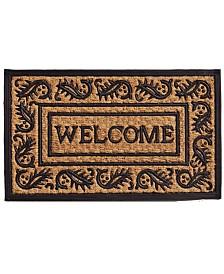 """Border Welcome 18"""" x 30"""" Coir/Rubber Doormat"""