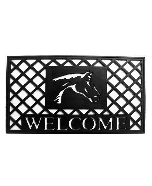 "Home & More Stallion 18"" x 30"" Rubber Doormat"