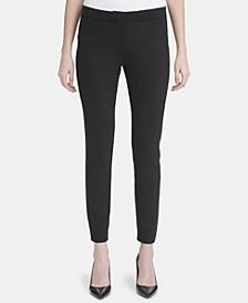 Contrast-Waist Skinny Pants