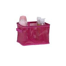 Eva Mesh Small Storage Basket Tote, Pink