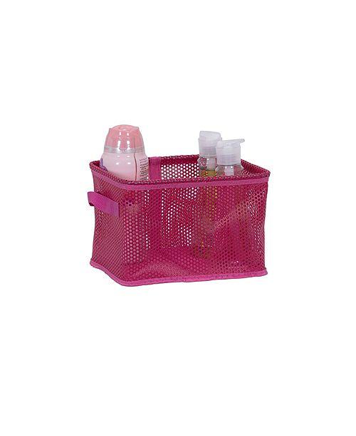 Household Essentials Eva Mesh Small Storage Basket Tote, Pink