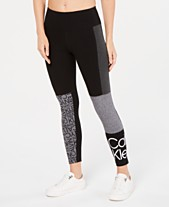 00d25c7d51a Calvin Klein Performance Colorblocked Logo Ankle Leggings