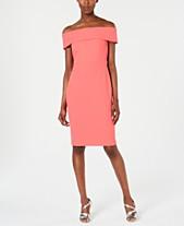 d384aa63 Calvin Klein Petite Off-The-Shoulder Sheath Dress