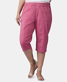 Plus Size Pull-On Capri Pants