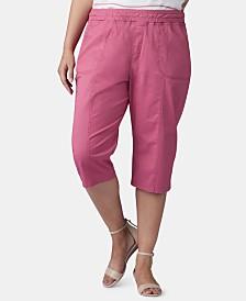 Lee Platinum Plus Size Pull-On Capri Pants