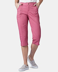 Petite Patch Pocket Capri Pants