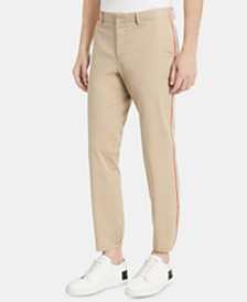 Calvin Klein Men's Classic-Fit Stretch Contrast-Piped Pants