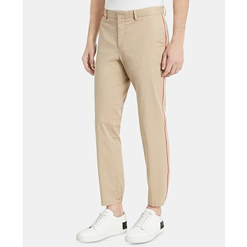 Calvin Klein Men's Classic Fit Stretch Contrast Piped Pants