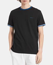 Calvin Klein Men's Contrast Tipped Pima Cotton T-Shirt