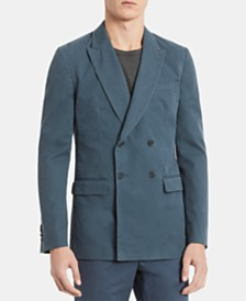 Calvin Klein Men's Slim-Fit Double-Breasted Twill Blazer