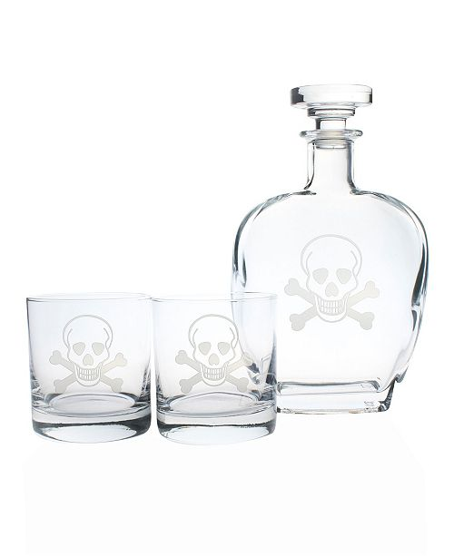 Rolf Glass Skull And Cross Bones Collection