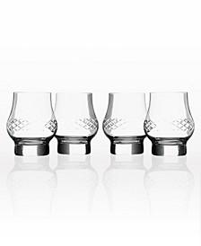 Diamond Bourbon Whiskey Snifter 10.75Oz - Set Of 4