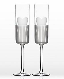 Wedding Cheers Series 1 (Dress/Dress) Flute 5.75Oz - Gift Box Set Of 2