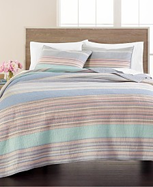 Martha Stewart Collection Stillwater Cove Twin Quilt, Created for Macy's