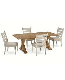 Homecoming Dining Furniture, 5-Pc. Set (Table & 4 Side Chairs)