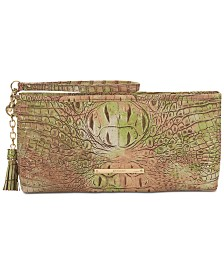 Brahmin Kayla Atlas Melbourne Embossed Leather Clutch