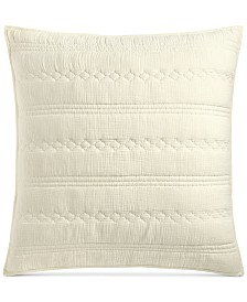 Lucky Brand Crinkle Gauze Cotton European Sham, Created for Macy's