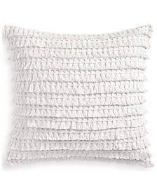 "Whim by Martha Stewart  Collection Fringe Benefits 18"" Square Decorative Pillow, Created for Macy's"