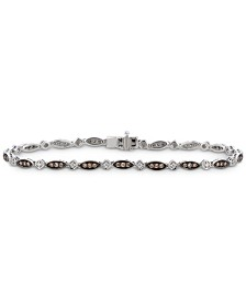 Le Vian Chocolatier® Diamond Link Bracelet (5/8 ct. t.w.) in 14k White Gold