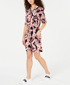 Tommy Hilfiger Printed Drawstring Romper, Created for Macy's