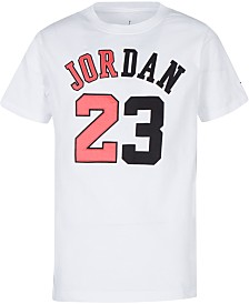 Jordan Big Boys Flight History Graphic Cotton T-Shirt