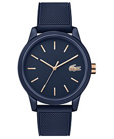 Men's 12.12 Blue Rubber Strap Watch 42mm