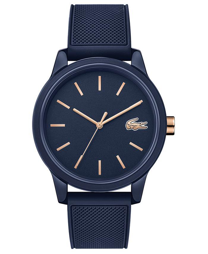 Lacoste - Men's 12.12 Blue Rubber Strap Watch 42mm