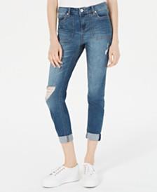 Vanilla Star Juniors' Ripped Skinny Utility Jeans